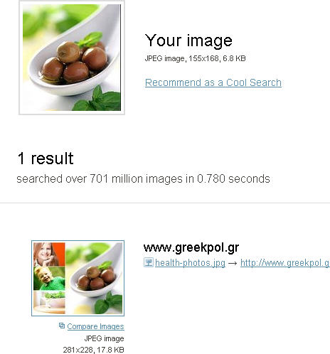 Reversed Image Search