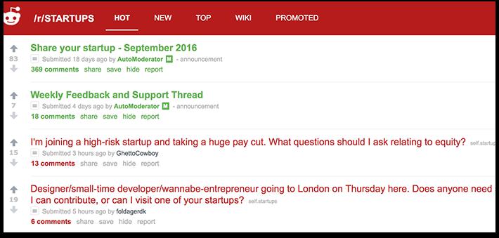 R/Startups