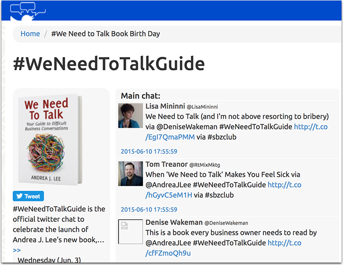 #WeNeedToTalkGuide Twitter launch party