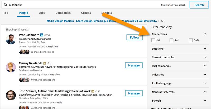 Linkedin Company search