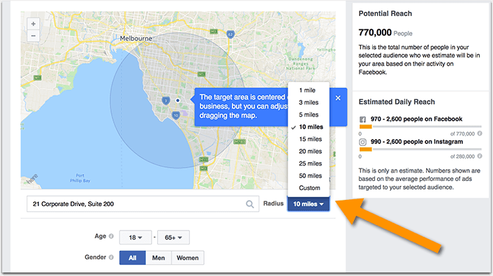 Facebook hyperlocal